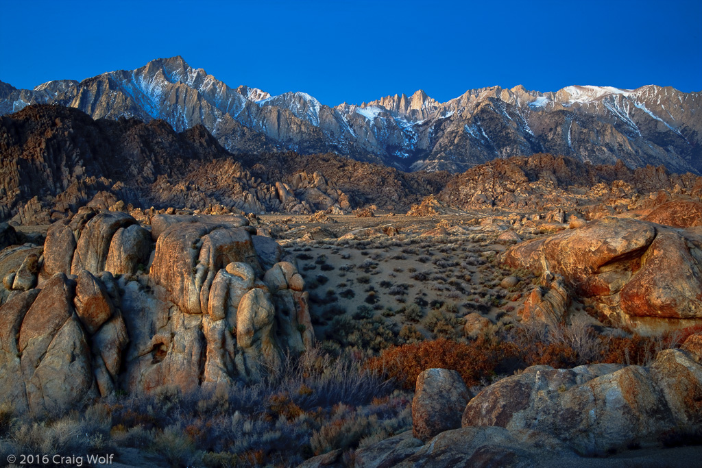 Mt. Whitney and the Alabama Hills