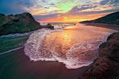 Leo Carrillo State Beach, Malibu, CA - Sunset