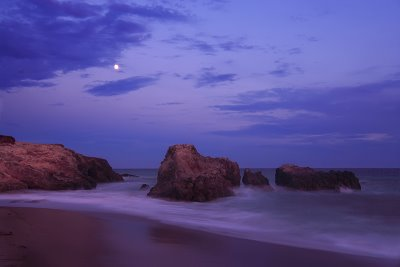 Leo Carrillo State Beach, Malibu, CA - Moonrise